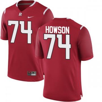 Men's Sam Howson Rutgers Scarlet Knights Nike Authentic Scarlet Team Color Jersey -