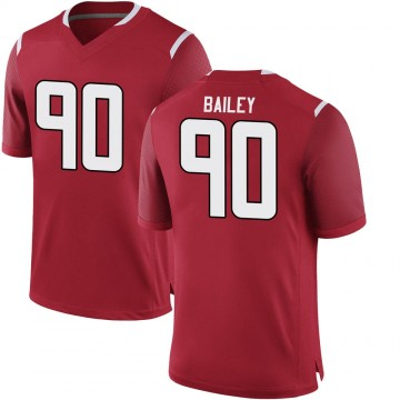 Men's Wesley Bailey Rutgers Scarlet Knights Game Scarlet Football College Jersey