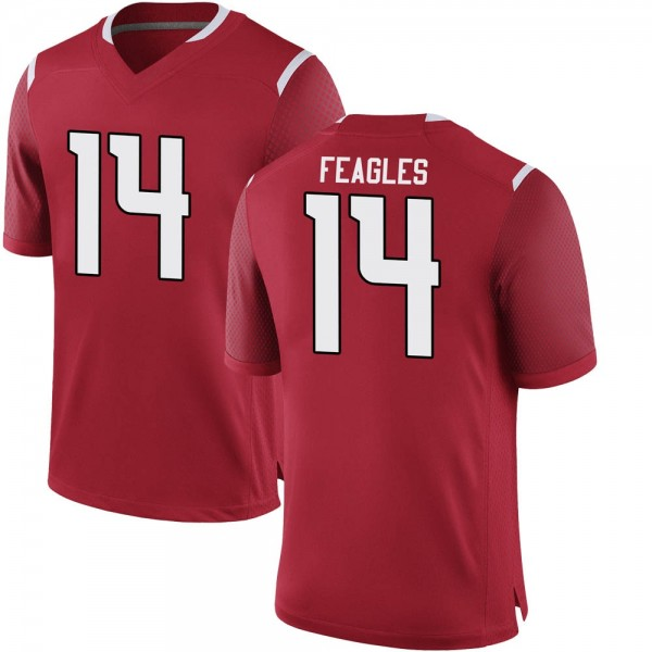Men's Zach Feagles Rutgers Scarlet Knights Nike Game Scarlet Football College Jersey