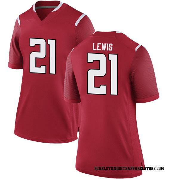 Women's Eddie Lewis Rutgers Scarlet Knights Nike Game Scarlet Football College Jersey