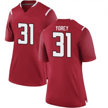 Women's Johnny Yorey Rutgers Scarlet Knights Game Scarlet Football College Jersey