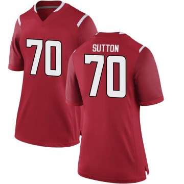 Women's Reggie Sutton Rutgers Scarlet Knights Nike Game Scarlet Football College Jersey