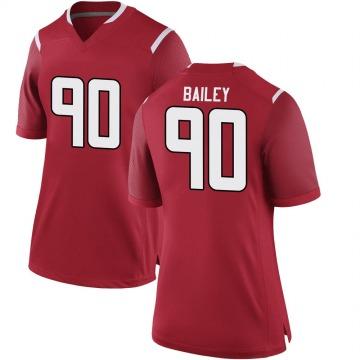Women's Wesley Bailey Rutgers Scarlet Knights Game Scarlet Football College Jersey