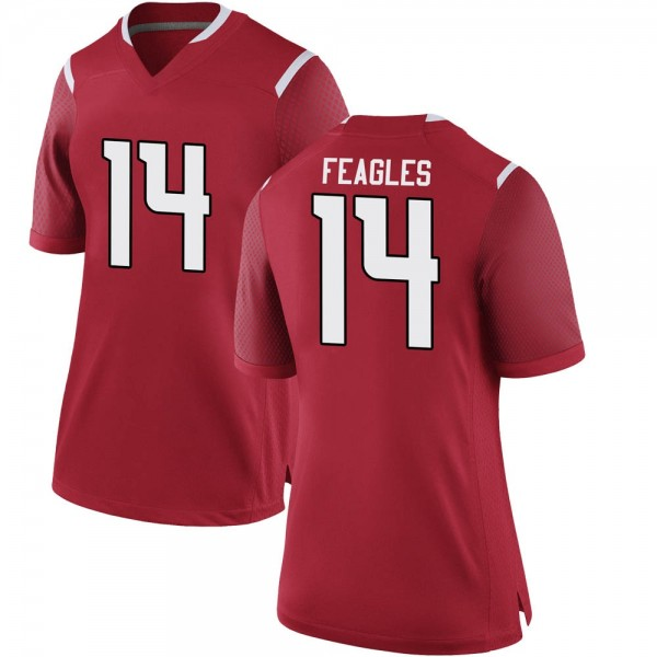 Women's Zach Feagles Rutgers Scarlet Knights Nike Game Scarlet Football College Jersey