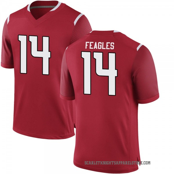 Youth Zach Feagles Rutgers Scarlet Knights Nike Game Scarlet Football College Jersey